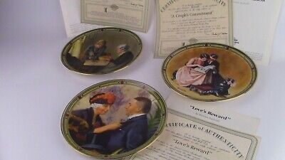 $ CDN7.52 • Buy 3 Norman Rockwell Limited Edition Collector Plates With Certificates. 8.5