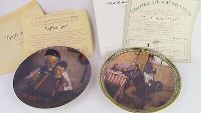 $ CDN6.26 • Buy 2 Norman Rockwell Limited Edition Collector Plates With Certificates. 8.5