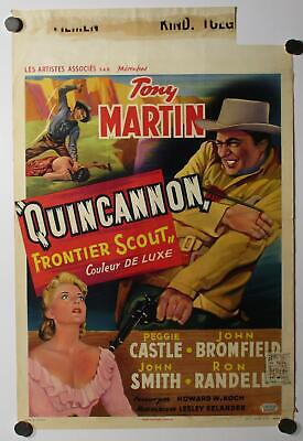 $ CDN14 • Buy Tony Martin Peggy Castle Cleavage Quincannon Frontier Scout Movie Poster 1956
