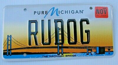 $29.99 • Buy Mackinac Bridge  Graphic Vanity License Plate   Rudog   Are You A  Dog  Dogs