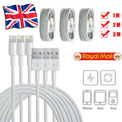 1M 2M 3M USB Data Cable Charger For IPhone 5 5S IPhone 6 7 8 IPod Charging Lead • 2.59£