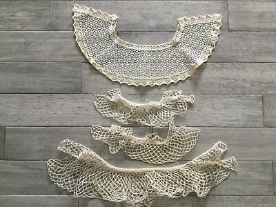 Vintage Crochet Lace Collars And Cuffs • 17.87£
