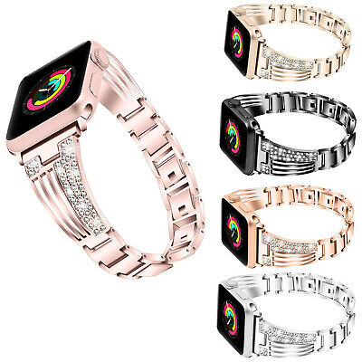 AU16.99 • Buy Apple Watch Series 5 4 3 2 Bling Stainless Steel Bracelet IWatch Band Strap Lady