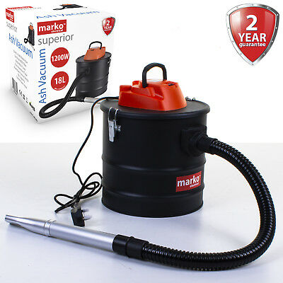 1200W 18L Ash Vacuum Hoover Fireplace Clean Wood Burner Fire Pit Bagless Debris • 32.99£
