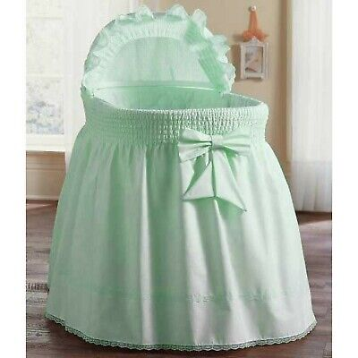 ABaby Smocked Bassinet Skirt, Mint, Small • 141.84$
