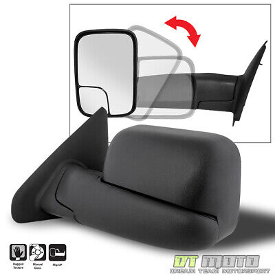 $48.96 • Buy [LEFT,Driver Side] 2002-2008 Dodge Ram 1500 03-09 2500 3500 Towing MANUAL Mirror