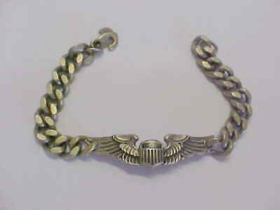 Ww2 Meyer Silver Pilots Wings Link Bracelet  • 29.99$