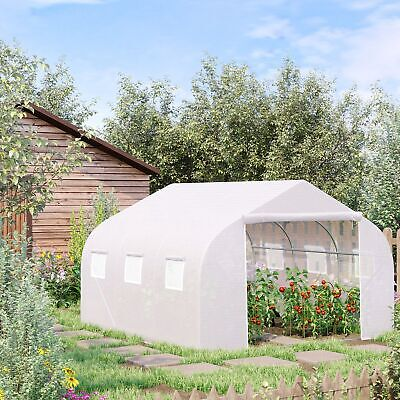 Walk-in Tunnel Greenhouse Gardening Planting Shed Heavy Duty 3.5LX 3WX 2H M • 101.99£