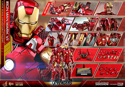 AU666.58 • Buy Hot Toys Marvel Avengers Iron Man Mark VII 7 Diecast 1/6 Scale Figure In Stock