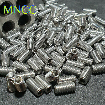 AU3.15 • Buy 1~10pc M6 X 4mm-20mm Cup Point Grub Screw Set Screw Hex Head 304 Stainless Steel