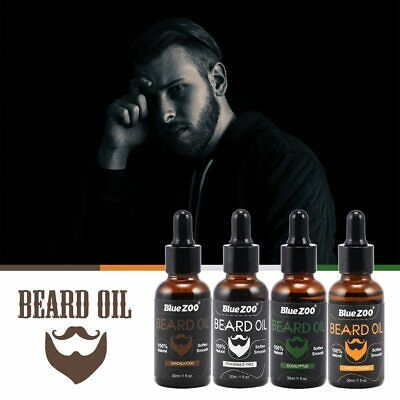 Men Moustache Cream Beard Oil Kit Beard Wax Balm Hair Loss Products Leave-In Con • 12.35£