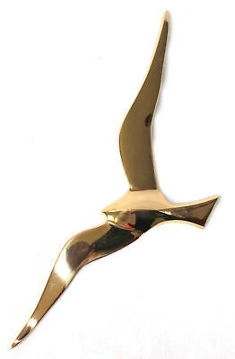 Wall Decoration One Seagull Polished Brass 30 CM • 12.88£