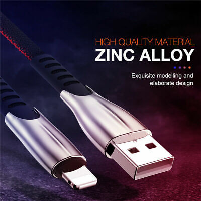£1.99 • Buy Zinc Metal USB Fast Charge Charger  Lead  Cable For IPhone Micro USB Type C