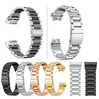 AU15.99 • Buy Stainless Steel Charge3 Watch Band Metal Strap Bracelet For Fitbit Charge 4 3 2