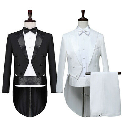 £43.99 • Buy Mens Tuxedo Morning Suit Tailcoat Jacket Trousers Evening Tails Frock Coat