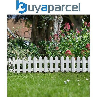 £14.99 • Buy 4 X Smart Garden White Picket Fence Path Border Lawn Plant Beds Edging