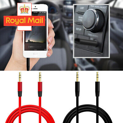 2M Aux Cable Audio Lead 3.5mm Jack To Jack Stereo Male For PC Phone MP3 IPod UK • 1.98£