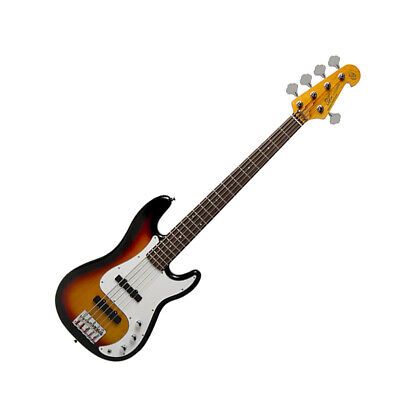 AU355.45 • Buy Sx Electric 5 String Bass Precision Style In Sunburst With Gig Bag
