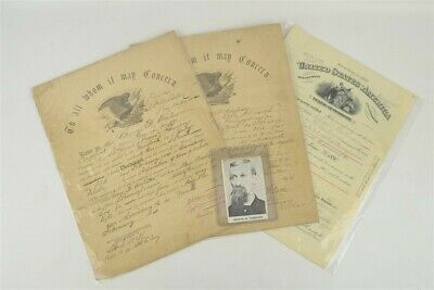 Set Of 3 Civil War Union Soldier Discharge Pension Papers George Amhieser PA • 220.50$