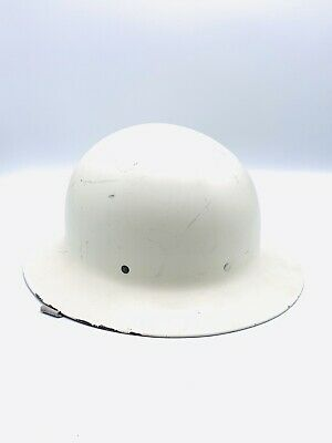 Vintage U. S. Property O.C.D. Metal Aluminum Safety Hard Hat Helmet Full Brim  • 25$