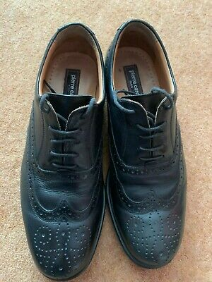 £15.99 • Buy Mens Pierre Cardin Brogues Shoes Leather Black Uk 10 Gc 100% Genuine Fast Post