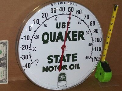 Motor Oil - GAS / GASOLINE -Filling Station THERMOMETER Made In USA • 69.99$