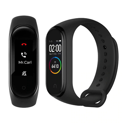 $ CDN18.07 • Buy M4Smart Band Fitness Tracker Watch Sport Band Heart Rate Blood Pressure Monitor.
