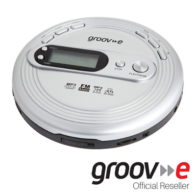 Groov-e Retro Series Personal Cd Player With Radio And Mp3 Player - Silver • 27.95£