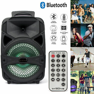 $ CDN47.16 • Buy Portable BT Party Speaker 8  USB Bluetooth Loud Bass Sound Rechargeable Remote