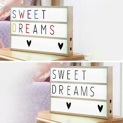 New A4 Light Up Letter Box Cinematic Led Sign Party Wedding Plaque Shop Cinema • 9.95£