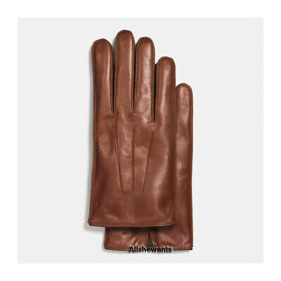 $64.95 • Buy NEW Genuine COACH Gloves For Men Fawn Basic Nappa Leather W/Cashmere MSRP $128