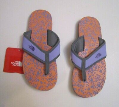 THE NORTH FACE G  BASECAMP FLIP FLOPS PURPLE   NWT  SZ 4 Youth BRAND NEW • 14.23£