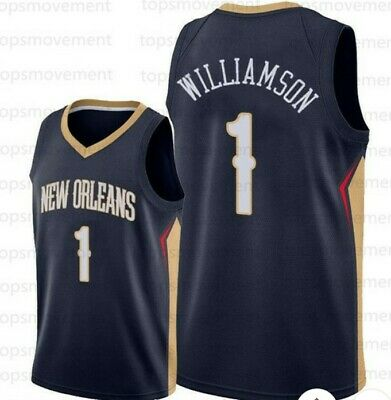 $40 • Buy Zion Williamson New Orleans Pelicans #1 Navy/Red Stitche Jersey NWT Adult Large