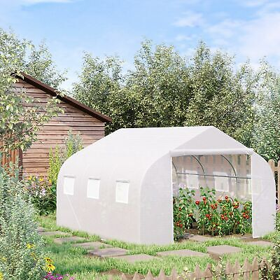 Walk-In Portable Greenhouse Garden Tunnel Shelter Plant Shed 4.5L X 3W X2H M • 137.99£