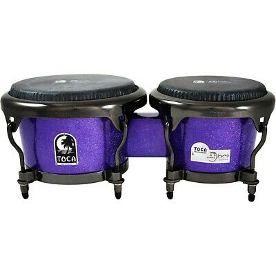 Toca Jimmie Morales Signature Series Purple Sparkle Bongos 7 And 8.5 In. LN • 281.59$