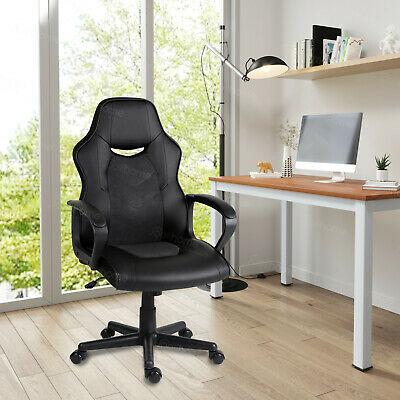 Office Chair Racing Gaming Executive Home Swivel Chair High Back PU Leather Seat • 72.99£