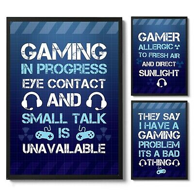 £3.99 • Buy Gaming Wall Art Boys Bedroom Prints / Gamer Accessories / Novelty Gift For Boys