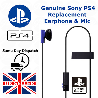 Official Genuine Sony Ps4 Mono Headphone Earphones With Mic Playstation 4 / Ps5  • 6.90£