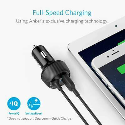 AU54 • Buy Anker PowerDrive 2 ELITE USB Hub Car Vehicle Charger Black With Lightning Cable