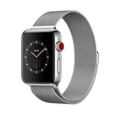 $ CDN914.96 • Buy Apple Watch Series 3 42mm Stainless Steel Case With Milanese Loop GPS + Cellular