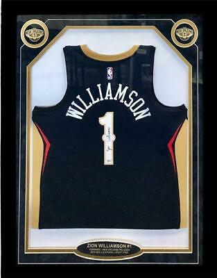 $875 • Buy Zion Williamson Autographed Framed New Orleans Pelicans Jersey