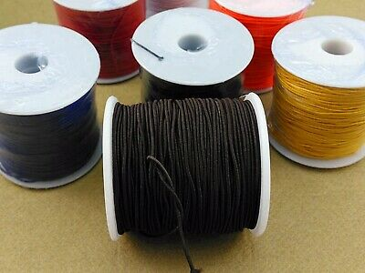 $ CDN4.56 • Buy Craft Elastic Stretch Round Beading Cord Braided String Rattail Rope 0.8mm-1.5mm
