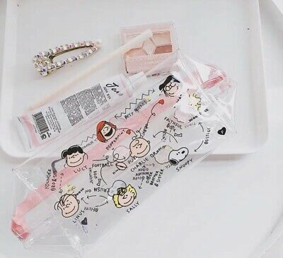 New Women's & Girls Snoopy Peanuts PVC Make Up Bag Cosmetic  Bag • 11.99£