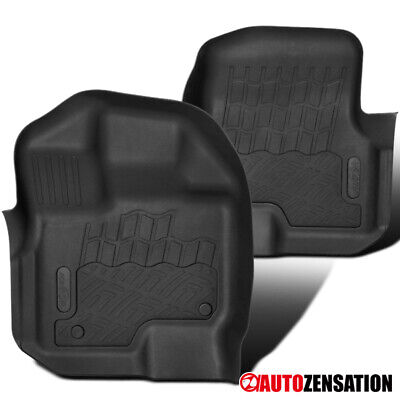 For 09-14 Ford F150 Super Crew Cab Replacement Front Rubber Floor Mats Black 2PC • 30.99$