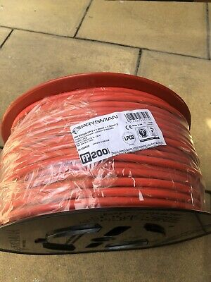 FP200 Gold - Red Fire Alarm Cable, 2 Core And Earth 1.5mm (x3 Reels Available) • 50£
