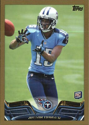 $1 • Buy 2013 Topps Gold Titans Football Card #248 Justin Hunter/(ball In The Air)/2013