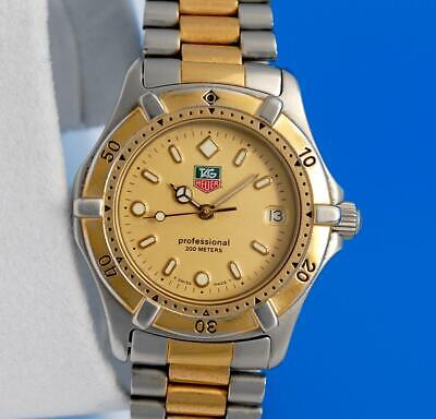 Ladies Tag Heuer 2000 2-tone 18K Gold Plate & SS Professional Watch - Gold Dial • 355$