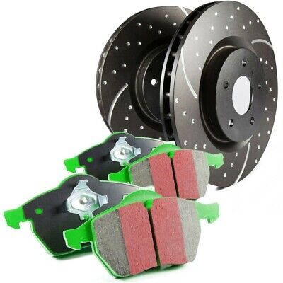 S10KF1093 EBC Brake Disc And Pad Kits 2-Wheel Set Front New For Ford Focus 00-04 • 339.72$