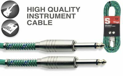 $ CDN19.71 • Buy 20' Vintage Tweed Green Cloth Covered Guitar Amp Cable Cords Stagg SGC6VT GR