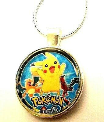Pokemon Picachu Pendant 16 18 20 22 Inch Chain Necklace Gift Box Birthday Party  • 5.99£
